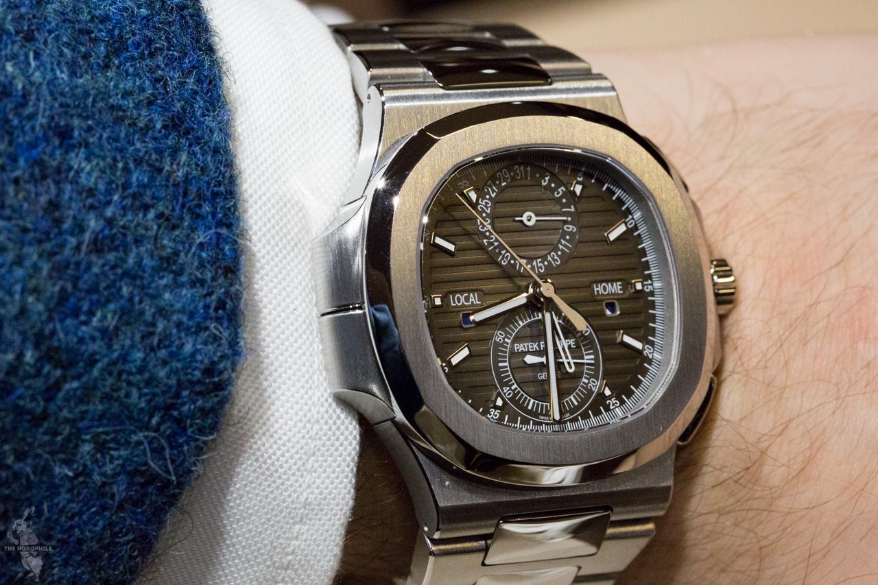 Patek philippe nautilus travel time chronograph 5990 1a the horophile for Patek philippe nautilus